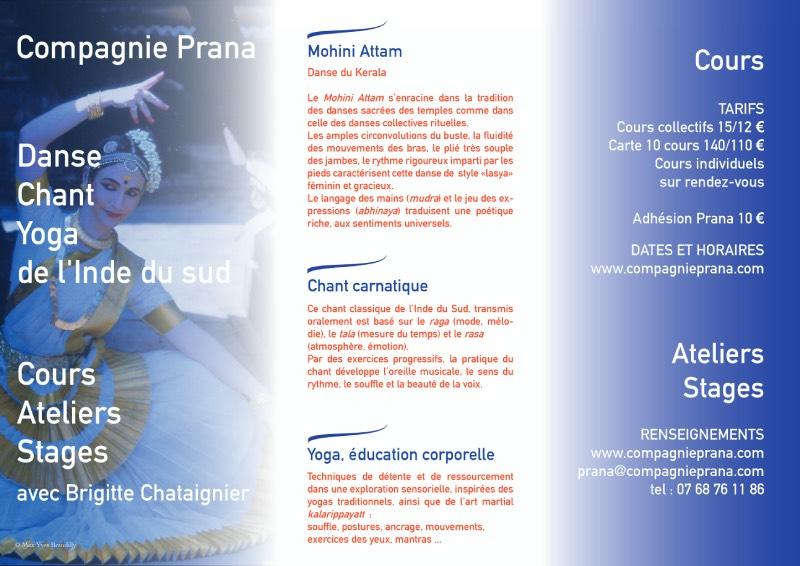 Cours de danse Mohini Attam et Chant Carnatique à Rennes