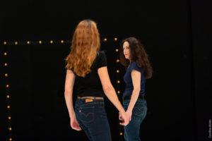 Un Tracé – création 2019, Festival Agitato, Le Triangle à Rennes, Brigitte Chataignier et Catherine Legrand